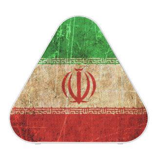 Scratched and Worn Vintage Iranian Flag Speaker