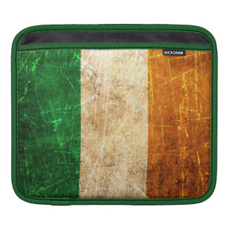 Scratched and Worn Vintage Irish Flag Sleeves For iPads