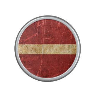 Scratched and Worn Vintage Latvian Flag Speaker