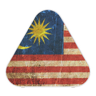 Scratched and Worn Vintage Malaysian Flag Speaker