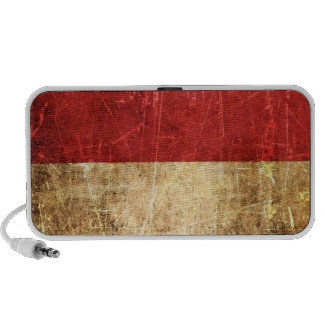 Scratched and Worn Vintage Monaco Flag Mp3 Speakers
