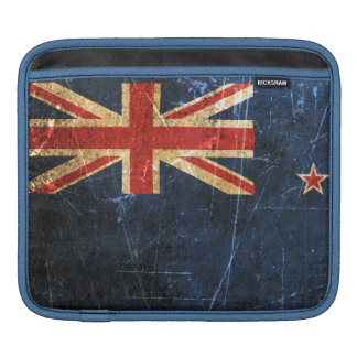 Scratched and Worn Vintage New Zealand Flag Sleeves For iPads