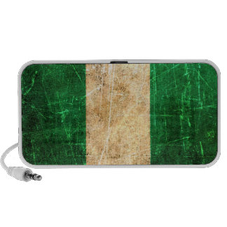 Scratched and Worn Vintage Nigerian Flag iPod Speakers