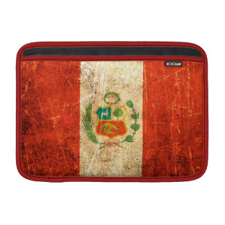 Scratched and Worn Vintage Peruvian Flag Sleeves For MacBook Air
