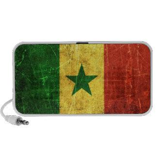 Scratched and Worn Vintage Senegal Flag Travel Speakers