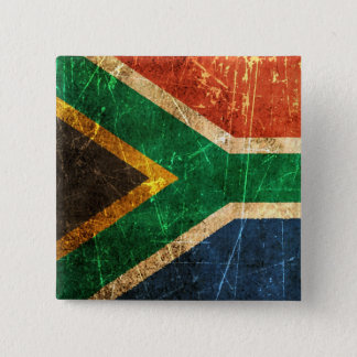 Scratched and Worn Vintage South African Flag 15 Cm Square Badge