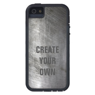 Scratched Brushed Metal Texture Case For iPhone 5