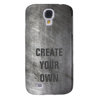 Scratched Brushed Metal Texture Galaxy S4 Cover
