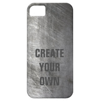 Scratched Brushed Metal Texture iPhone 5 Case