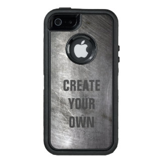 Scratched Brushed Metal Texture OtterBox Defender iPhone Case