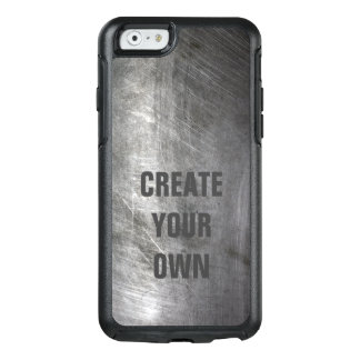 Scratched Brushed Metal Texture OtterBox iPhone 6/6s Case