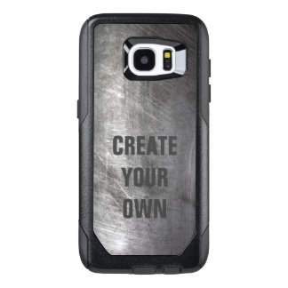 Scratched Brushed Metal Texture OtterBox Samsung Galaxy S7 Edge Case