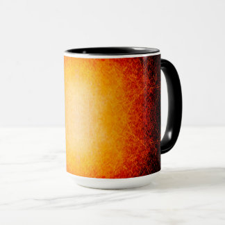 Scratched glowing fireball mug