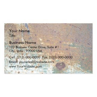 Scratched Rusty Metal Texture Pack Of Standard Business Cards