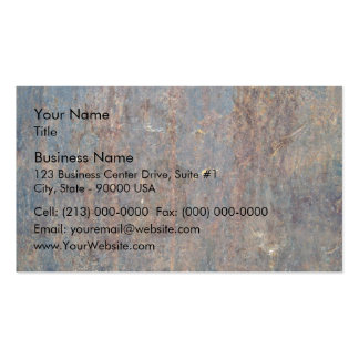 Scratched Rusty Metal Texture Business Card Template