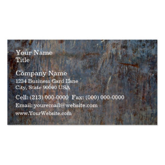 Scratched Rusty Metal Texture Business Cards