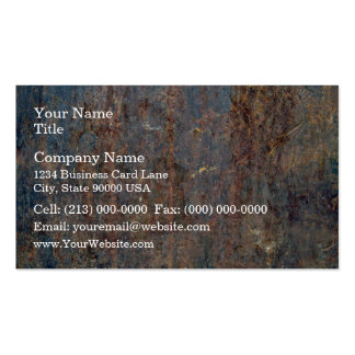 Scratched Rusty Metal Texture Business Card