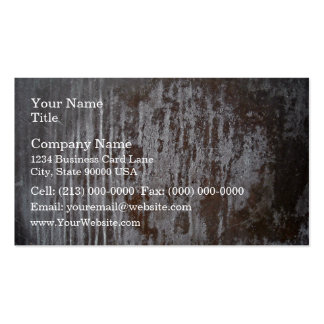 Scratched Rusty Metal Texture Business Card Templates