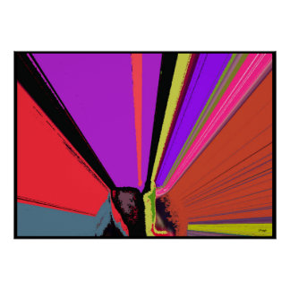 Scream Abstract Expressionism Poster Print