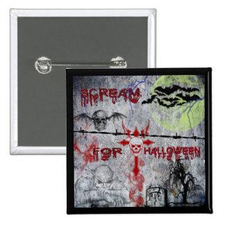 Scream for Halloween Button