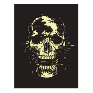 Scream (gold version) postcard