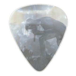 Scream it out! pearl celluloid guitar pick