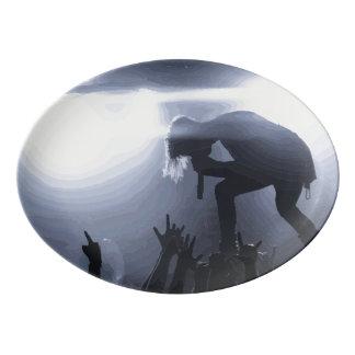 Scream it out! porcelain serving platter