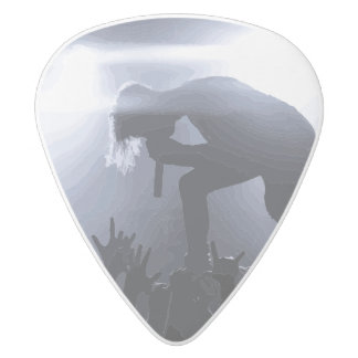 Scream it out! white delrin guitar pick
