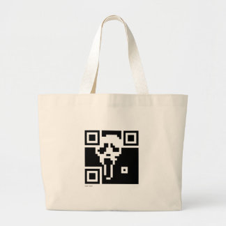 Scream QR Code Large Tote Bag