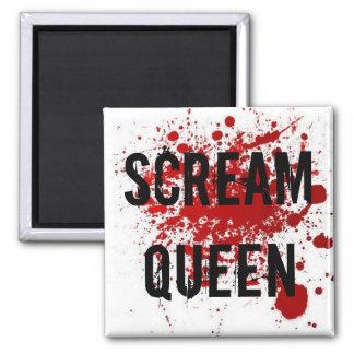 Scream Queen Square Magnet