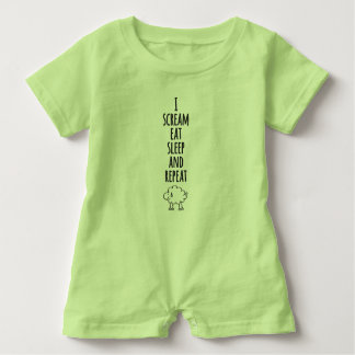 Scream sleep eat baby bodysuit