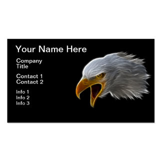 Screaming American Bald Eagle Head Business Card Templates