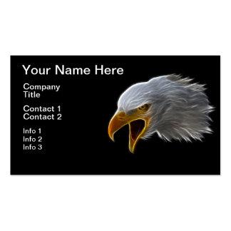 Screaming American Bald Eagle Head Business Card Templates