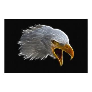 Screaming American Bald Eagle Head Stationery Paper