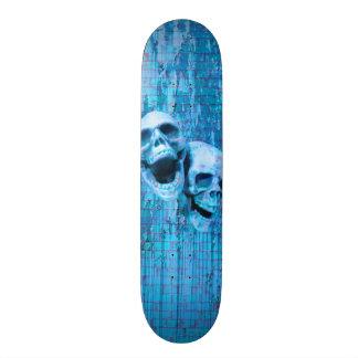 Screaming Blue Skulls 20.6 Cm Skateboard Deck