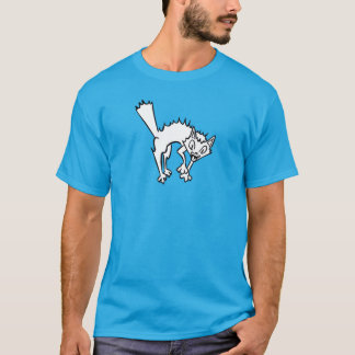 Screaming Cat Blue T-Shirt