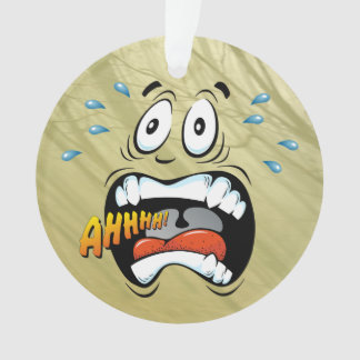 Screaming Face Ornament
