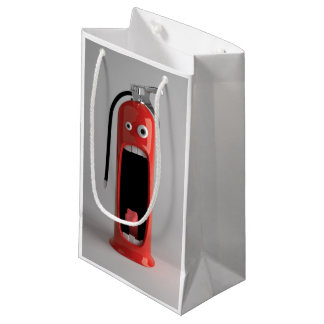 Screaming Fire Extinguisher Small Gift Bag