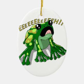 Screaming Frog Doodle Noodle Design Ceramic Ornament