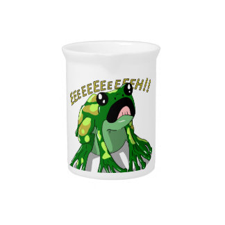Screaming Frog Doodle Noodle Design Pitcher