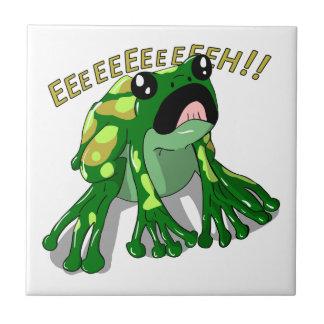 Screaming Frog Doodle Noodle Design Small Square Tile