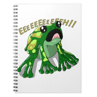 Screaming Frog Doodle Noodle Design Spiral Notebook