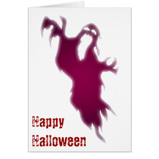 Screaming Ghost Happy Halloween Card