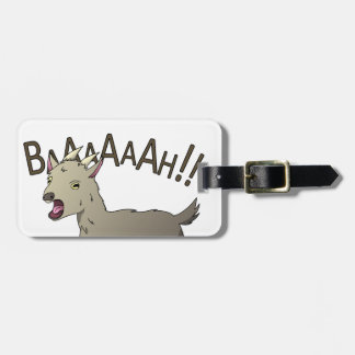 Screaming Goat Doodle Noodle Designs Luggage Tag