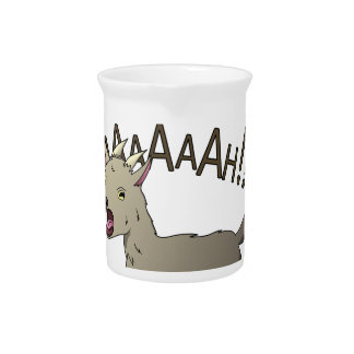 Screaming Goat Doodle Noodle Designs Pitcher