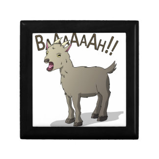 Screaming Goat Doodle Noodle Designs Small Square Gift Box
