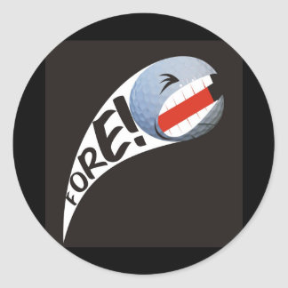 Screaming Golf Ball Round Stickers