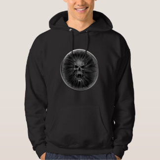 Screaming Gothic Vampire Skull Coin Hoodie
