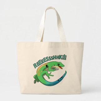 Screaming Lizard Doodle Noodle Design Large Tote Bag