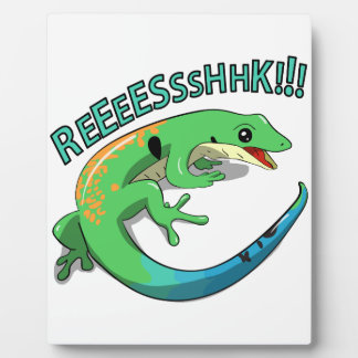 Screaming Lizard Doodle Noodle Design Plaque